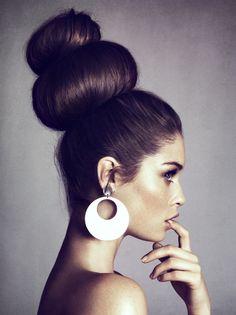 Big big buns #hair | Spritzi, beauty blogs news in real time #beauté #makeup