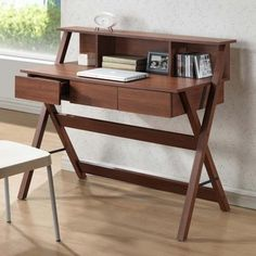 Baxton Studio Freen Sonoma Oak Finishing Modern Writing Desk - Overstock™ Shopping - Great Deals on Baxton Studio Desks