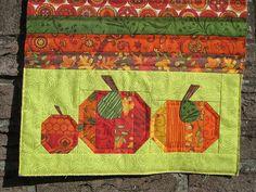 Pumpkin Patch Mug Rug (detail) | Flickr - Photo Sharing!