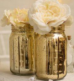 #mercury mason jars #mason jars #gold mason jars    ONLY $4.99 Each…