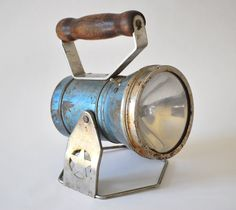 Vintage Blue Flashlight Lantern from the Star by DelcoClipper. $26.00, via Etsy.