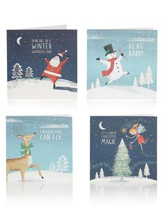 24 Fun Music Themed Christmas Multipack Cards
