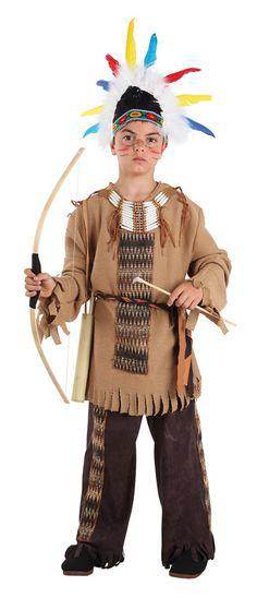 DisfracesMimo, disfraz de indio gran apache niño varias tallas. Este comodísimo traje es perfecto para forma parte de una tribu en carnavales.Este disfraz es ideal para tus fiestas temáticas de disfraces de indios y vaqueros para el oeste infantiles.