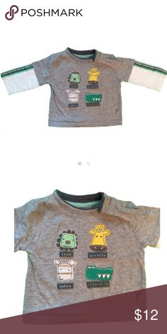 "Pumpkin Patch Animals Long Sleeve T Shirt 6-12 Mo Cute as can be Pumpkin Patch Animals Long Sleeve T Shirt! Size 6-12 Months 72CM/28"" Height. Snaps near neck to open up head hole. Clean from a smoke free home. Pumpkin Patch Shirts & Tops Tees - Long Sleeve"