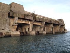 Atlantic U-boat bases at the Bay of Biscay