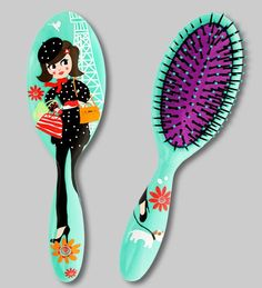 Large Hairbrush - Ladypop Large - Product and object designer Gift - Pylones SAS
