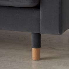 LANDSKRONA Corner sofa, 5-seat - velvet, dark grey/wood - IKEA Ikea Landskrona, Sofa Frame, Framed Fabric, Cushion Filling, Velvet Sofa, Grey Wood, Polyurethane Foam, Corner Sofa, Fabric Covered