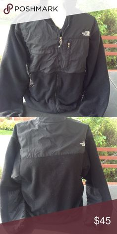 Mens north face fleece jacket. It is a size large, color is black, a little worn but in good condition, sale is final i do not accept returns. North Face Jackets & Coats