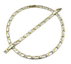 Edelstahl Collier Halskette Kette Armband Set Silber Gold Poliert Matt Schmuck | Uhren & Schmuck, Modeschmuck, Halsketten & Anhänger | eBay!