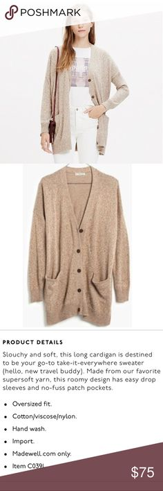 """NWT Madewell long cardigan sweater Perfect NWT condition. Runs large - I'm normally a small and this fits me - I'm 5'9"""" for reference.  Bust approx 25"""" flat, length approx 30"""" Madewell Sweaters Cardigans"""