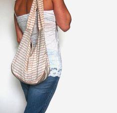 Hobo Purse Hobo Bag Slouch Bag Oatmeal by SmiLeaGainCreations, $30.00