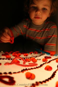Valentine's Day Light Box Activity for Kids