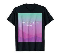 Melancholic Sad Boys Vaporwave Offline T-shirt with Kanji Cloud Rap, Aesthetic T Shirts, Sweatshirts Online, Vaporwave, Tee Design, Aesthetic Fashion, Branded T Shirts, Cool T Shirts, Tees
