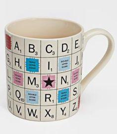Scrabble Alphabet Mug