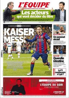 La victoria del FC Barcelona ante el Bayern Múnich, en la prensa internacional