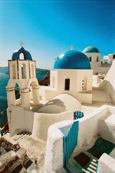 Domed Church, Santorini, Greece