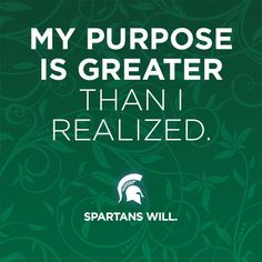 """""""My Purpose is Greater Than I Realized"""" on green background."""