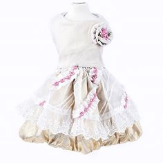 Tuohai Pet Rose Flower Lace Princess Dress Summer Shirt for Dog Cat Wedding Party Birthday ClothS *** Find out more about the great product at the image link.Note:It is affiliate link to Amazon.