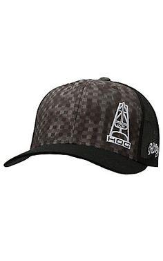 HOOey Grey & Black Block with Hog Logo Black Mesh Back Cap | Cavender's