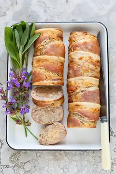 An economical way to present a meat main course. It looks good, is easy to serve in slices and delicious on sandwiches. The cooked roll will freeze very successfully. Perfect for your festive menu! Food Festival, Holiday Festival, Freeze, Allrecipes, Holiday Recipes, Festive, Bacon, Sandwiches, Rolls