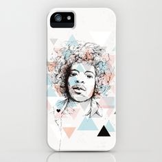 Some fashionable inspiration and new trends for your online birthday or christmas shopping spree. Jimi Hendrix geometric portrait artwork iPhone & iPod Case by Little Smilemakers Studio - $35.00