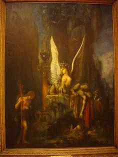 Edipo viaxeiro, de Gustave Moreau, antes de 1888, conservada nos museos da Cour d'Or à Metz (Moselle, FrancIa) Painting, Indian Art, Chiaroscuro, Surrealism, Museums, Painting Art, Paintings, Painted Canvas