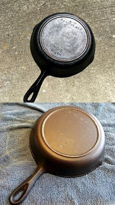 Not food, but a great tip on restoring old cast iron cookware...  Like what I  hope to find at some yard sales this year..