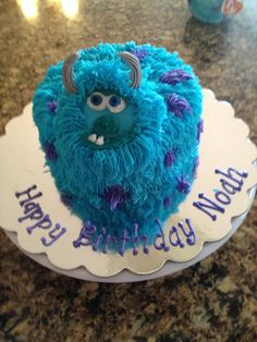 Sulley smash cake