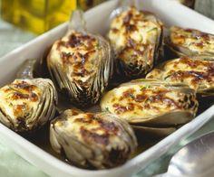 Rezept: Artischocken mit Käsehaube
