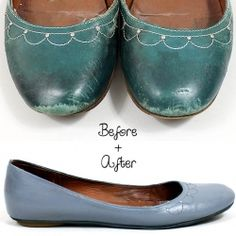 dye leather shoes.- Tarango dye must try for faux leather just spray paint with a can that says vinnyl