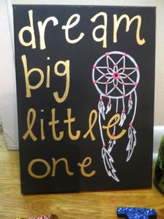 "Sigma Delta Tau sorority big/little craft ""Dream big little one"""