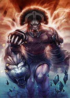 Hercules - God of War lll Greek Mythology Gods, Greek Gods, Gods And Goddesses, Fantasy Creatures, Mythical Creatures, God Of War Series, Character Art, Character Design, Kratos God Of War