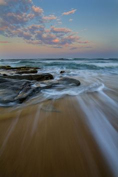 Shelly Beach sunset,  Canon EOS60D, f/18, ISO100, 10mm, 0.4s exposure