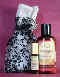 Soft & Scented Gift Set - $10.50 (reg. $13.25) Blanket Yourself in Luxury. 1/8 oz fragrance oil and 2 oz lotion will come packaged and ready to give. Available in all delightful scents: Amber & Sandalwood, Black Coconut, Egyptian Musk, Frankincense & Myrrh, Lily of the Valley, Patchouli, Persian Garden, Tunisian Opium, Vanilla Bean, Water Goddess, Water Lily, White Ginger, Zen Rain. KuumbaMade.com