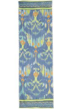 matthew williamson ikat faze modal and cashmere blend scarf