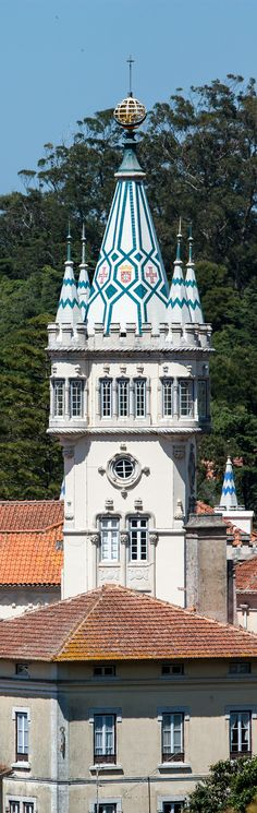 Beautiful architecture in Sintra, Portugal
