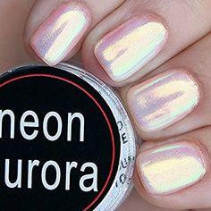 Ushion Neon Nail Powder Mirror Chrome Powder Aurora Effect Luminaura Crystal Opal Pearl AB Mermaid Unicorn Nails 0.2g/pot: Amazon.co.uk: Beauty
