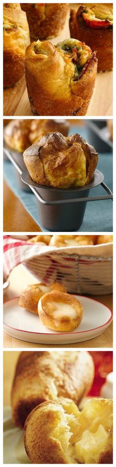 "9 Popover Recipes That Are Worth the Effort. Need something hot, tasty and versatile enough to be either sweet or savory? Then you need a popover! The popover, an American take on the English classic, Yorkshire pudding, is so named because of the fluffy batter's propensity to ""pop over"" the top of the muffin tin. Are you ready to harness the power of the popover? Then take a look at these delicious popover recipes!"
