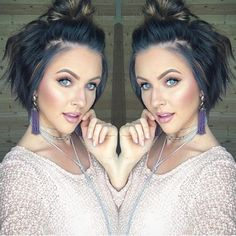 Wavy Hair Styles Updo-Hairstyle Easy Hairstyles for Short Wavy Hair with Best Ways Mexican Hairstyles, Choppy Bob Hairstyles, Pretty Hairstyles, Easy Hairstyles, Bob Haircuts, Updo Hairstyle, Stacked Haircuts, Haircut Bob, Bun Updo