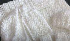Beautiful Baby Gift Set Free Crochet Tutorials Crochet Baby Cardigan Free Pattern, Cotton Crochet Patterns, Baby Booties Free Pattern, Crochet Baby Jacket, Baby Afghan Crochet, Manta Crochet, Baby Girl Crochet, Crochet Baby Clothes, Baby Knitting Patterns