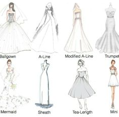 Different type of dresses #wedding