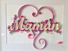 Cadre 'Maman' quilling entièrement personnalisable : Décorations murales par made-in-paper