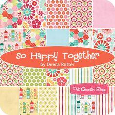 So Happy Together Yardage Deena Rutter for Riley Blake Designs - Fat Quarter Shop, eta April 2013