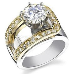 Moissanite Contemporary Engagement Ring