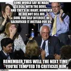 Bernie had to promise the DNC that if he did not win, he would support the nominee.  As we know, Bernie is a man of his word.  Even though it broke our hearts, he could not break his promise!  The Revolution continues.....