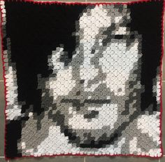 Daryl Dixon/Norman Reedus C2C Crochet blanket. Corner to corner Afghan
