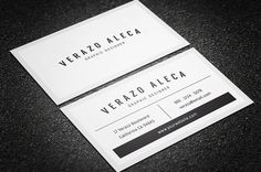 Clean Minimal Business Card Template by Verazo on @creativemarket - http://crtv.mk/d0XD5
