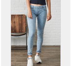 Узкие джинсы, средняя талия, для худой девушки купить на AliExpress