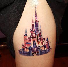Disney Castle Tattoo by Tyler Malek