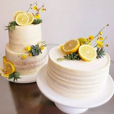 Lemon Party, Cake Toppers, Wedding Desserts, Lemon Wedding Cakes, Naked Cake, Wedding Cake Inspiration, Cute Cakes, Creative Cakes, Shower Cakes